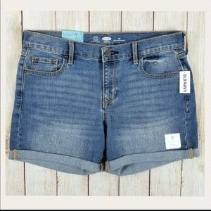 Sz 10 NWT Old Navy Cuffed Denim Shorts